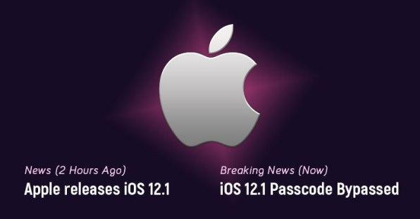Apple iOS 12.1 lock screen passcode bypass